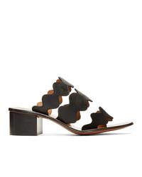 Chloé Black Lauren Heeled Sandals