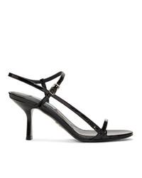 Prada Black Shiny Heeled Sandals