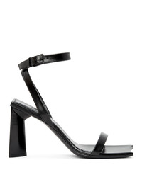 Balenciaga Black Square Heeled Sandals