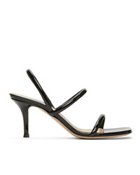 Gianvito Rossi Black Vernice 70 Heeled Sandals