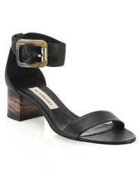 Burberry Cashel Leather Marble Heeled Sandal