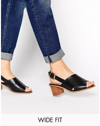 Asos Collection Heidi Wide Fit Heeled Sandals