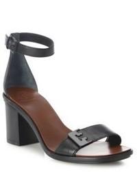 Tory Burch Gabrielle Leather Block Heel Sandals