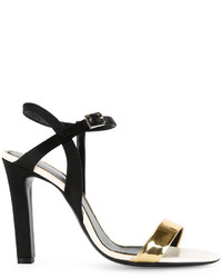 Lanvin Gold Strap Heeled Sandals