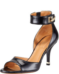Givenchy High Heel Ankle Wrap Shark Tooth Sandal