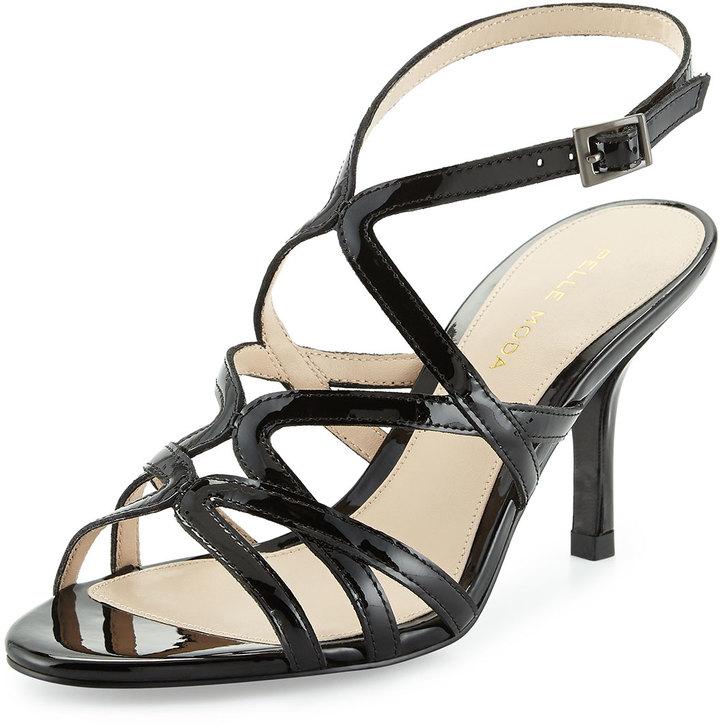 4a141664eb8 ... Heeled Sandals Pelle Moda Idan Strappy Evening Sandal Black ...