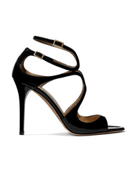 Jimmy Choo Lang 100 Patent Leather Sandals