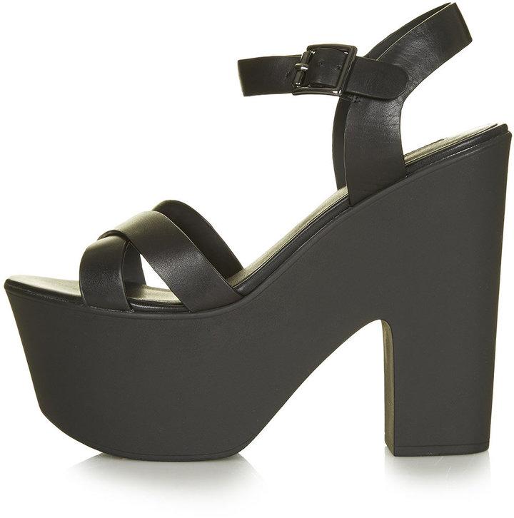 Topshop Launch Platform Sandals, $80