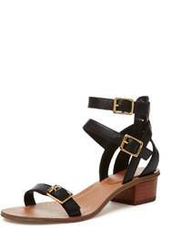 Lucette Buckle Strap Block Heel Sandal