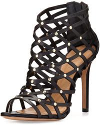 Schutz Lucina Caged Dressy Sandal Black