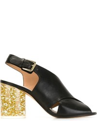 Maison Margiela Glitter Heel Sandals