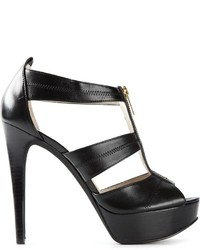 MICHAEL Michael Kors Michl Michl Kors Front Zip Strappy Sandals