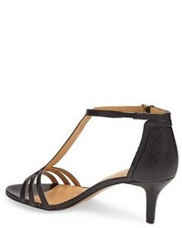 Nine West Go Home Kitten Heel T Strap Leather Pump | Where to buy ...