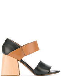 Marni Panel Block Heel Sandals