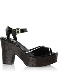 Fendi Patent Leather Sandals