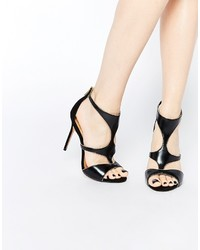 Ted Baker Shyea Leather Caged Heeled Sandals