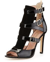 Sarah Jessica Parker Sjp By Gina Strappy Patent Sandal Black