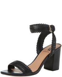 Skylar Laser Cut Block Heel Sandal
