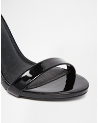 61ee9504ec Steve Madden Stecy Black Patent Barely There Sandals, $125 | Asos ...