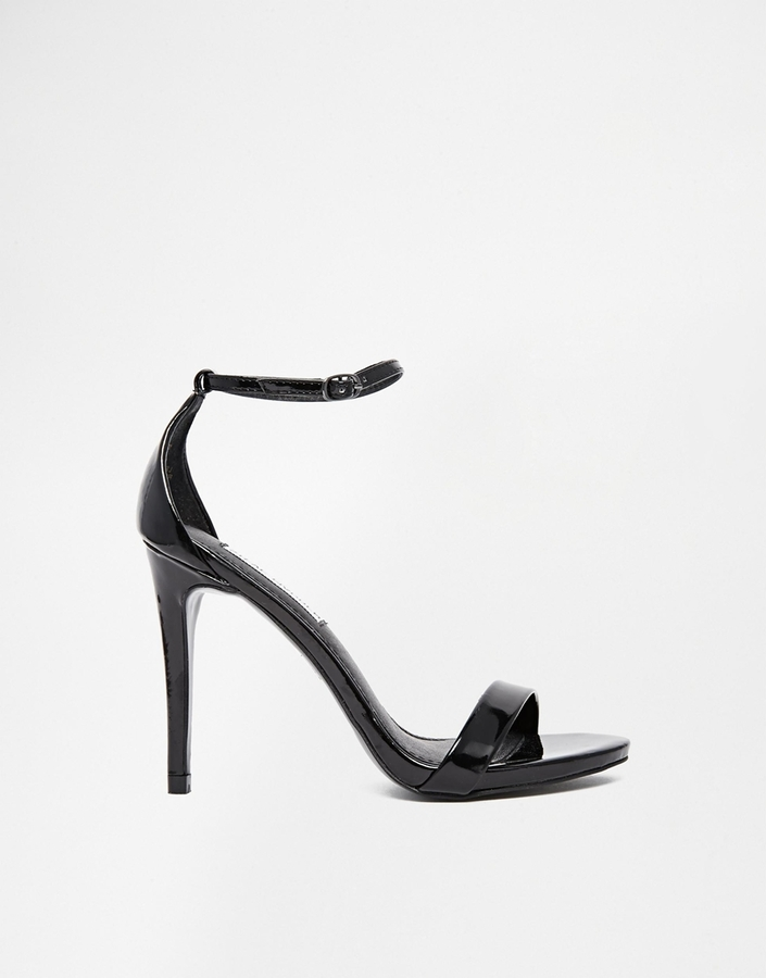 407ee8f6fec0 ... Heeled Sandals Steve Madden Stecy Black Patent Barely There Sandals ...