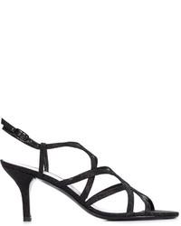 Stuart Weitzman Strappy Kitten Heel Sandals