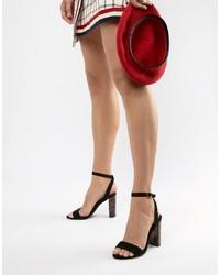 New Look Tortoiseshell Block Heel Sandal