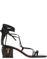 Valentino Sculpted Heel Gladiator Sandals