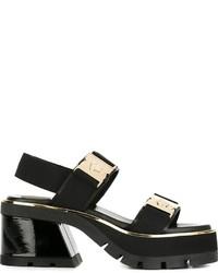 Versace Dual Strap Mid Heel Sandals