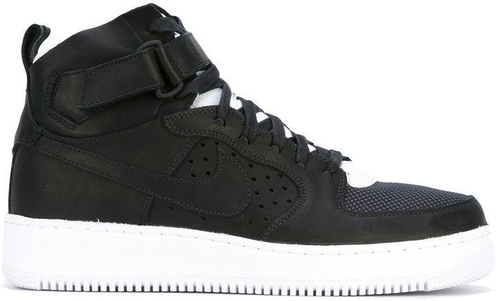 ... Black Leather High Top Sneakers Nike Air Force 1 Hi Tops