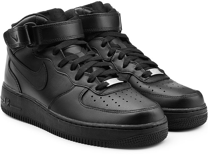 Nike Air Force 1 Mid 07 Leather Sneakers   Where to buy   how to wear 64eb6c781d2e