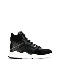 Balmain Ankle Lace Up Sneakers