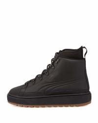 b3ed470b5894 ... Puma Basket Mid Winter Platform High Top Sneaker Black ...