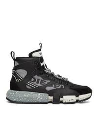 Diesel Black And Grey S Padola Mid Trek Sneakers