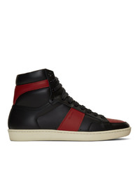 Saint Laurent Black And Red Court Classic Sl10h Sneakers