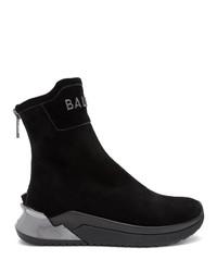 Balmain Black B Glove Sneakers