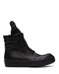 Rick Owens Black Geobasket Sneakers
