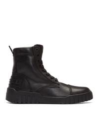 Diesel Black H Rua Am High Top Sneakers