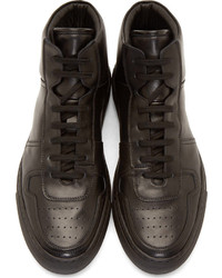 80c95c66e95 ... Common Projects Black Leather Basketball High Tops ...