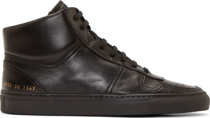 a88e3b6f6a16d ... Common Projects Black Leather Basketball High Tops ...