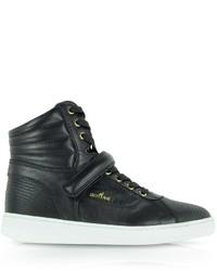 Hogan Black Leather High Top Sneaker