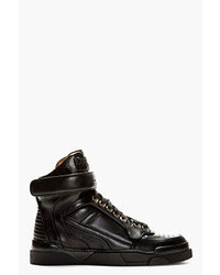 Givenchy Black Leather Tyson High Top Sneakers