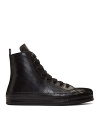 Ann Demeulemeester Black Maine High Top Sneakers