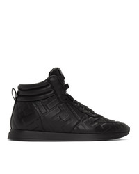 Fendi Black Nappa Forever High Top Sneakers