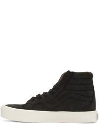 489ec301f52 ... Vans Black Nubuck Sk8 Hi Reissue Lite Lx Sneakers