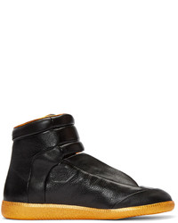 Maison Margiela Black Orange Future High Top Sneakers