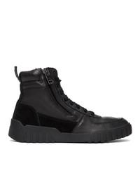 Diesel Black S Rua Mid Sneakers