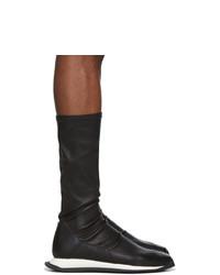 Rick Owens Black Stretch Runner Sneakers