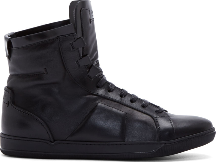 how to wear black leather sneakers