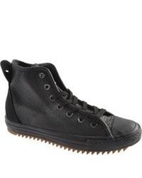 Converse Hollis Leather 132387c Black Sneakers