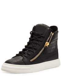 Crocodile embossed high top sneaker medium 647936